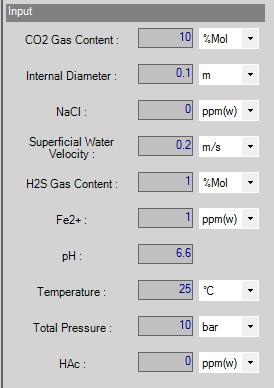 Simulation Input